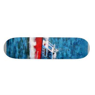 Fire Rescue Boat Skateboard Deck