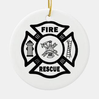 Fire Rescue Ceramic Ornament