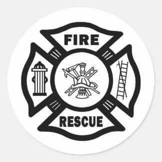 Fire Rescue Classic Round Sticker