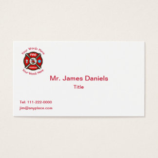 Fire Rescue Cross Business Card