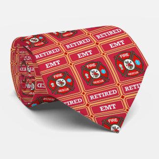 Fire Rescue Cross Retired Shield Tie