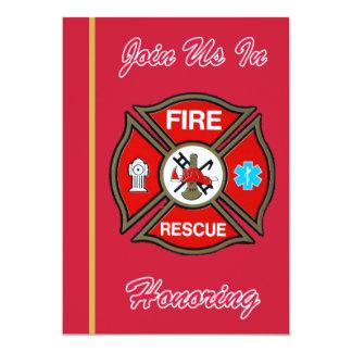 Fire Rescue Cross Retirement Invitation