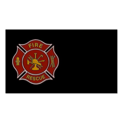 Fire Rescue Double-Sided Standard Business Cards (Pack Of 100)