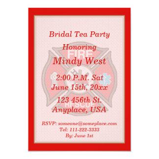 Fire-Rescue EMT Bridal Shower Tea Party Invite