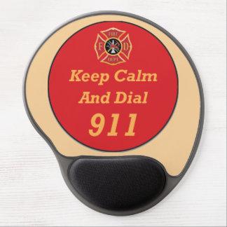 Fire Rescue EMT Emergency 911 Mousepad Gel Mouse Pad