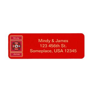Fire-Rescue EMT Wedding Address Label