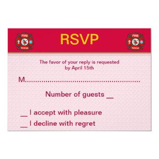 Fire-Rescue EMT Wedding RSVP Cards