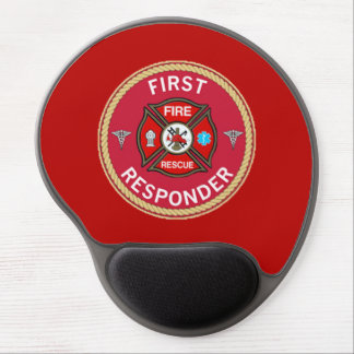 Fire Rescue First Responder Gel Mouse Pad