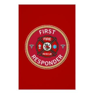 Fire Rescue First Responder Poster