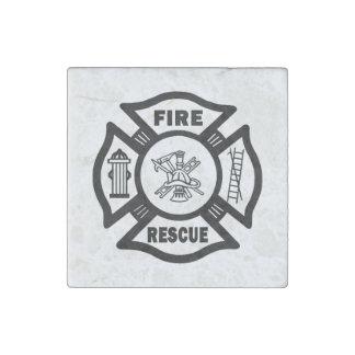 Fire Rescue Stone Magnet