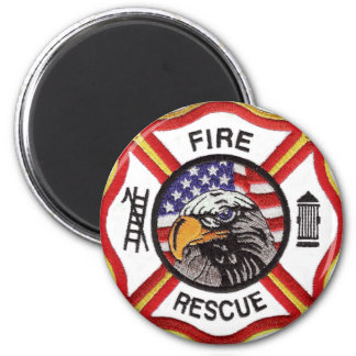 Fire Rescue Maltese Cross 2 Inch Round Magnet