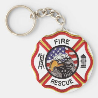 Fire Rescue Maltese Cross Keychain