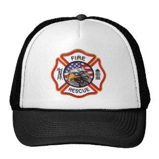 Fire Rescue Maltese Cross Trucker Hat