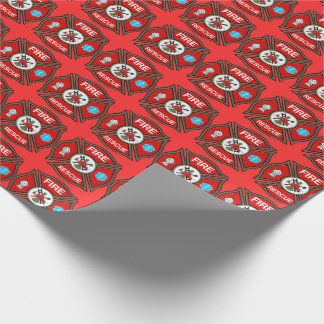 Fire Rescue Maltese Cross Wrapping Paper