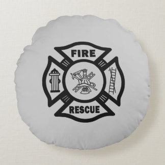 Fire Rescue Round Pillow