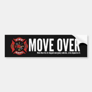 Fire-Rescue Move Over Bumper Sticker