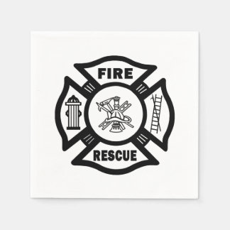 Fire Rescue Paper Napkin