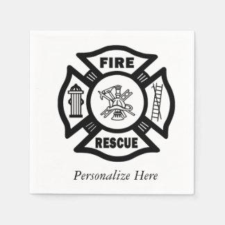 Fire Rescue Paper Napkin