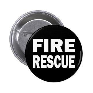 FIRE RESCUE PINBACK BUTTON