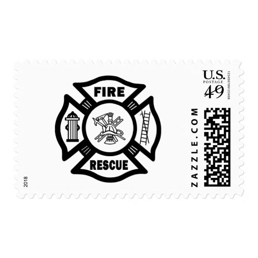 Fire Rescue Postage Stamps