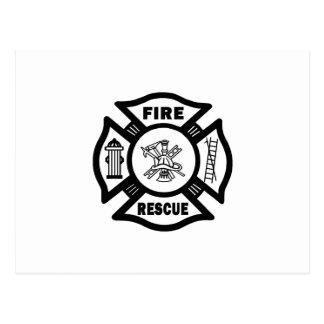 Fire Rescue Postcard