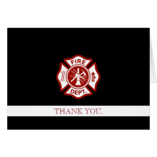 Fire Rescue Professional Customized Thank You Card