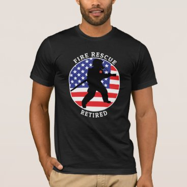 Fire Rescue Retired 2 Customize Personalize T-Shirt