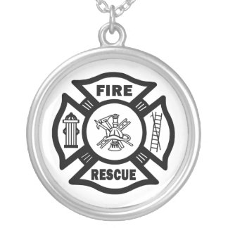 Fire Rescue Silver Plated Necklace