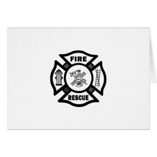 Fire Rescue Stationery Note Card