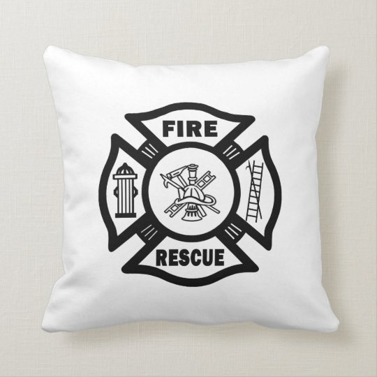 Fire Rescue Throw Pillow