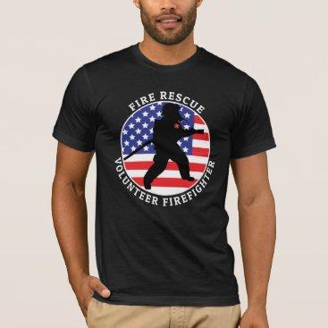 Fire Rescue Volunteer Firefighter 2 Customize T-Shirt