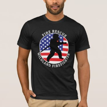 Fire Rescue Wildland FF 2 Customize Personalize T-Shirt