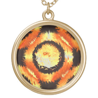"""""""Fire Rings"""" By Douglas J. Moore Round Pendant Necklace"""