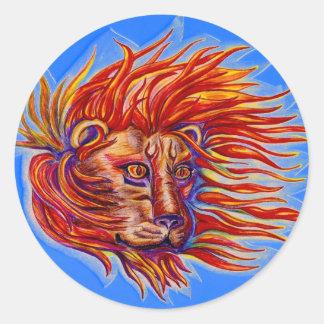 Fire Roar Classic Round Sticker
