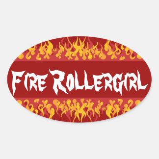 Fire Rollegirl Oval Sticker
