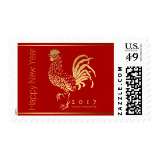 Fire Rooster New Year 2017 custom Postage