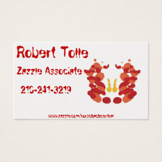 Fire Rorschach on Pearl White Business Card