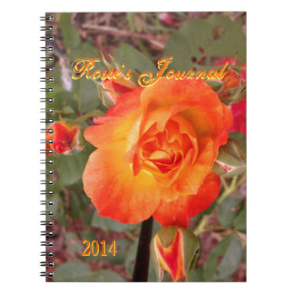 Fire Rose Customizable Notebook Template