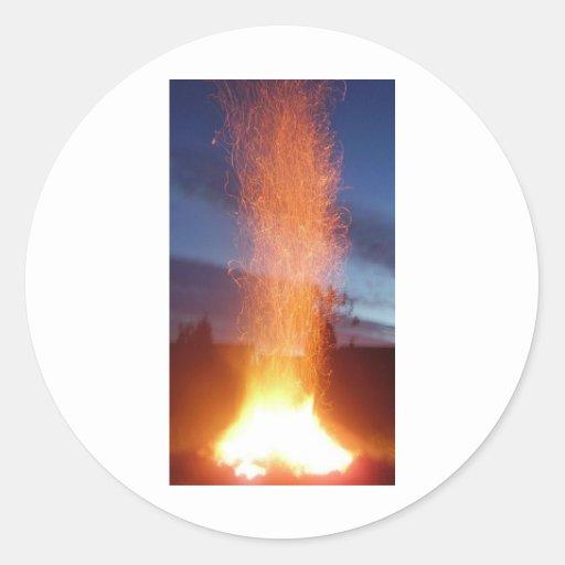 Fire Round Sticker