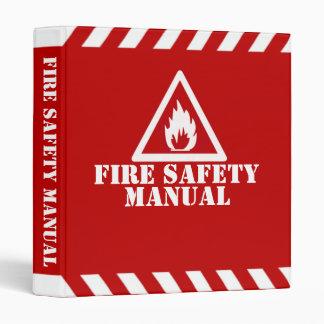 Fire Safety Manual Vinyl Binders