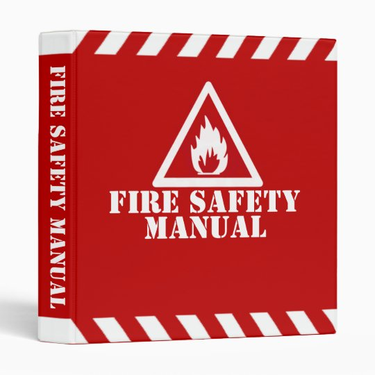 Fire Safety Manual Binder  Zazzle