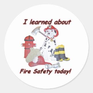Fire safety sticker