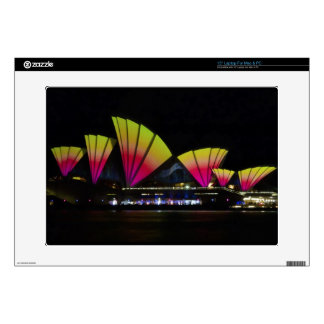 Fire Sails - Sydney Vivid Festival - Sydney Opera Decal For Laptop