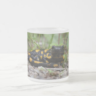 Fire Salamander Frosted Glass Coffee Mug