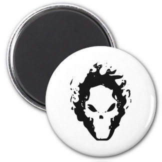 FIRE SCULL 2 INCH ROUND MAGNET