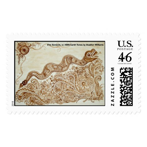 Fire Serpent Stamp
