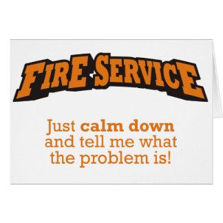 Fire Service / Problem Card