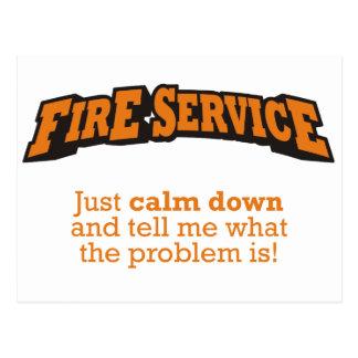 Fire Service / Problem Postcard