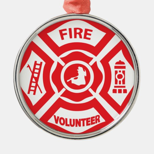 FIRE SHIELD VOLUNTEER METAL ORNAMENT