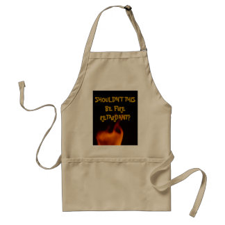 fire, SHOULDN'T THIS BE FIRE RETARDANT? Aprons